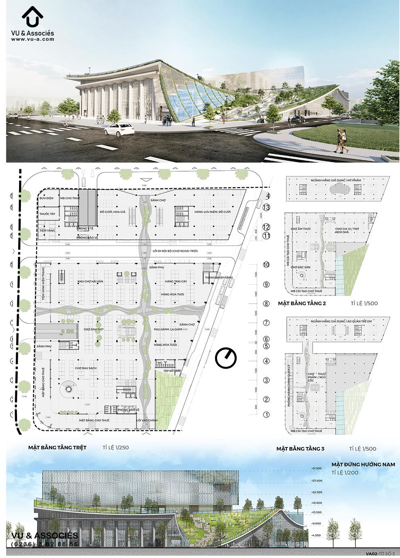 Thiết kế kiến trúc chợ Cồn